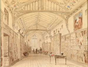 Library, Shrewsbury School, early 19th century