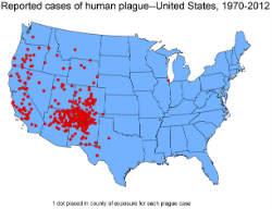 U.S. Plague Map