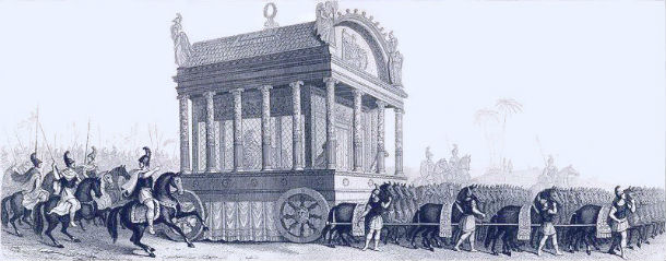 alexander the great's funeral procession