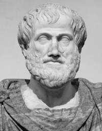 Picture of a bust of Aristotle