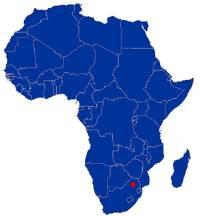 Australopithecus africanus map