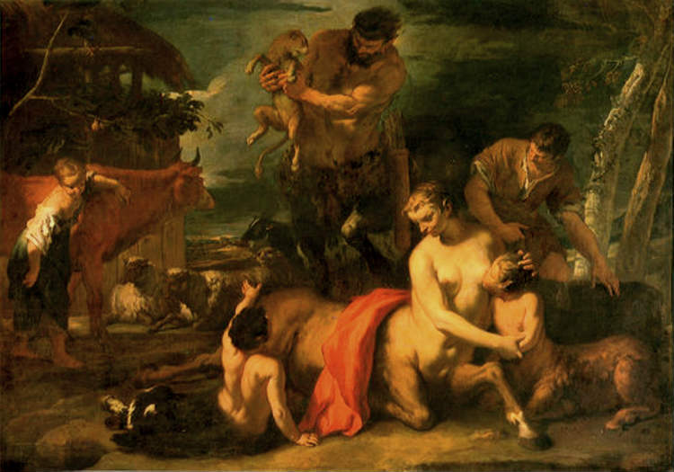 The Centaur Family by Sebastiano Ricci