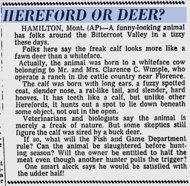 deer-cow hybrid