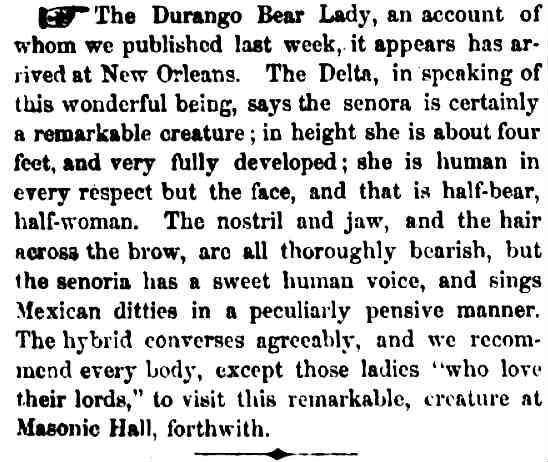 bear lady