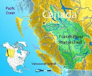 Fraser river map