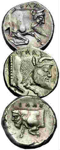 cow-human hybrids on ancient coins