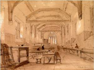 Interior, Shrewsbury School, early 19th century