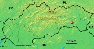 Location of Košice