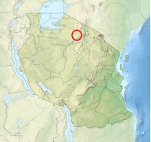Location of Olduvai Gorge