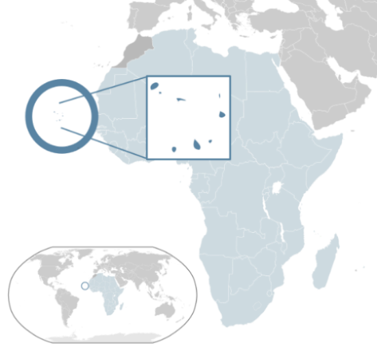Location of the Cape Verde Islands, Map