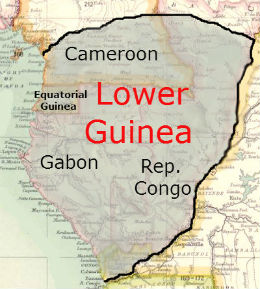 map of lower guinea