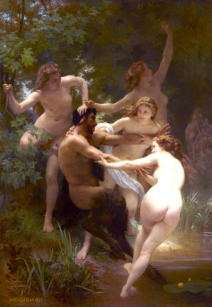 Satyr and nymphs