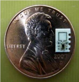 Picture of a tiny wireless pacemaker.