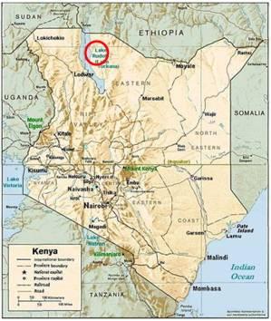 Kenyanthropus platyops map
