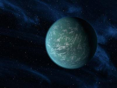 Artist's conception of Kepler-22b