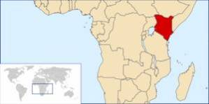 Location of Kenya map