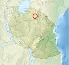 Location of Olduvai Gorge